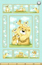 """Susybee LYON the Lion Panel Quilt Fabric ~ Approx. 35"""" x 44"""""""