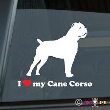I Love My Cane Corso Sticker Die Cut Vinyl