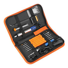 60W Adjustable Electric Temperature Gun Welding Soldering Iron Tool Kit Set New