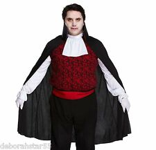 "Vampire Count Dracula Classic Halloween Fancy Dress Costume XL/XXL Chest 50"" New"