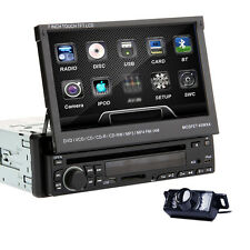 "LCD da 7 ""singolo DIN auto in dash BT iPod CD DVD radio touch screen Stereo +CAM"