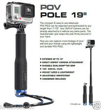 POV Extendable Pole Mount Selfie Stick monopod For GoPro Hero Xiaomi Yi Camera