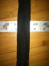 #5 Nylon Coil Zipper Tape Black By The Yard