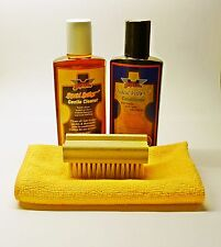 Gliptone Liquid Leather Cleaner & Conditioner Kit GT11 & GT12 + Soft Brush & M/F