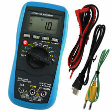 Digital Automotive MultiMeter Auto Range AC/DC Voltage Dwell Angle Meter Tester