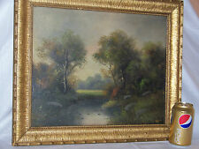 *Mason* Antique c19thC Original Oil On Canvas Landscape
