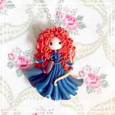 Collana Merida ~ Cute Ribelle Princess Necklace Fimo Polymer Clay Kawaii Disney