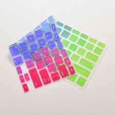 """Colorful Thin Keyboard Cover Skin For MacBook Pro 13"""" 15"""" 17"""" Silicone SG"""