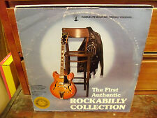FIRST AUTHENTIC ROCKABILLY COLLECTION 2 LP EX 1978 Candlelite Cash Perkins Lewis