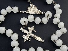ANTIQUE FRENCH STERLING SILVER & OPALIN ROSARY TOOLS OF THE PASSION