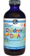 Nordic Naturals Children's DHA, Strawberry, 8 fl oz (237 ml), Kids' Fish Oil
