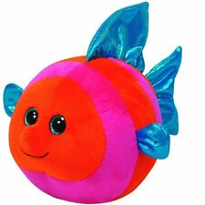 Splashy Orange/Pink Fish  TY Beanie Ballz (Regular Size - 4 in) - Plush Ball Toy