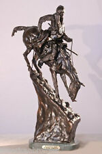 Mountain Man Solid Bronze Collectible Sculpture Statue by Remington Baby Size