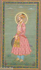 moghul mughal emperor shah jahan Traditional Painting ART Entique MUSLIM KING