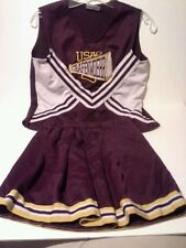 Teamwork cheerleader outfit skirt top 2 pc Grafenwoehr Germany USAG Maroon