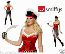 Smiffys Fever Pirate Women Girls Glittery Party Fancy Dress Custome
