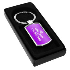 PURPLE Keep Calm I'm a Dog Groomer Metal Keyring 0099