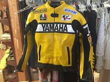 YAMAHA Motorcycle leather Jacket Yellow R1 R6 Valentino Rossi 46 men or Women