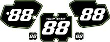 1988 Kawasaki KX500 Custom Pre-Printed Black Backgrounds with Green Pinstripe
