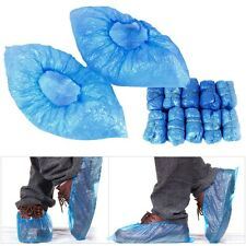 100pcs Blue Disposable Overshoes Plastic Anti Slip Shoe Floor Protector Covers