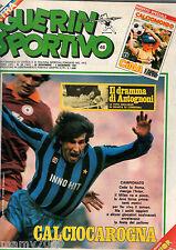 GUERIN SPORTIVO=N°48(364) 1981=COMPLETO INS.CALCIOMONDO SPECIALE CINA+JUNIOR