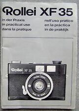 ROLLEI XF 35 INSTRUCTION MANUAL.