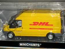 "Minichamps 2006 Ford Transit Cargo Box Van Truck ""DHL"" 1/43 Limited Edition"