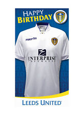 Leeds FC Birthday Greeting Card with Badge FREE 1ST CLASS POSTAGE (LU002)