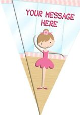 BP39 Ballet Ballerina 10 Flag bunting party decoration 3m Personalised