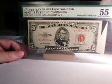 Butterfly fold on Legal Tender note