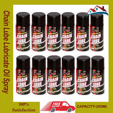 12 X Motorcycle Cycle Chain Lube Lubricate Oil SprayBicycle Motorbike Bike 200ml
