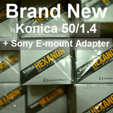 NEW!!! Konica Hexanon AR 50mm F1.4 50 f/1.4 (1 + Adapter for Sony A7 A7R A7S)