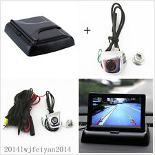 "Car Rear View Reverse Parking License Screw Camera+4.3"" Foldable Display Monitor"