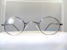 NEW LENNON, SMALL ROUND ANTIQUE SILVER EYEGLASS FRAME