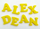 PICK & MIX LETTERS/NUMBERS edible sugar cake topper decorations - CHOOSE COLOUR