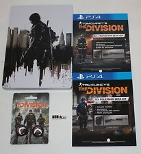 The Division - Official Ubisoft SteelBook + Thumbgrip + DLC - PS4 - FREE UK POST