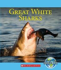Great White Sharks (Nature's Children)-ExLibrary