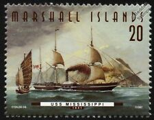 USS MISSISSIPPI (1841) Paddle Frigate US Navy Warship Stamp (1997)