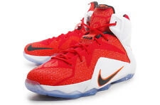 Nike Lebron 12 Heart of a Lion Red GS Youth Kids Sz 7Y Boys Shoes (685181-602)