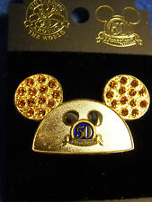 Happiest Homecoming On Earth - 50th Golden Mickey Mouse Ears Hat Jeweled