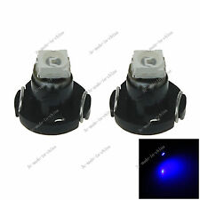 2x Blue Neo Wedge 1 SMD 1210 LED Car Bulbs T3 HVAC Climate Control Lights N001