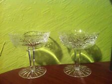 "Waterford Crystal Champagne/Sherbet""Clare Pattern. 2pieces "" ""@LOW PRICE""  L@@K"""