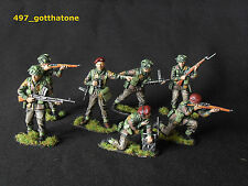 AIRFIX pongono COLLECTION 1/32 DIPINTI British Paratroops. professionalmente dipinto