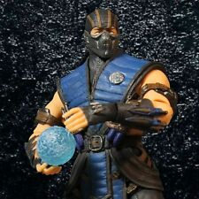 "Mezco Mortal Kombat X 12"" Sub Zero Action Figure Knives Ice Ball Jumbo Large NEW"