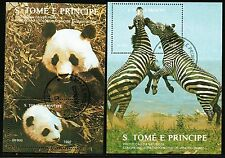SAO TOME e PRINCIPE Mi.B280/81 - UNCED ANIMALS WILDLIFE S/S -1992  - very fine