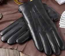 Latest Arrival  Men Qaulity 100% Genuine Sheepskin Leather Gloves Cashmere Lined