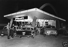 "5x7"" photo 1950'S McDonalds DRIVE-IN BURGERS TEENS HANGING OUT DODGE PONTIAC"