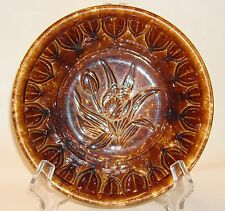 ANTIQUE BENNINGTON  ROCKINGHAM BROWN TULIP MOLD BOWL YELLOW WARE EARTHENWARE