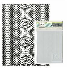 Richard Garay embossing folders KNITTED PATTERN LJEF-001 embossing folder