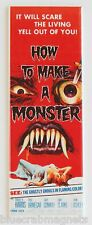 How to Make a Monster FRIDGE MAGNET (1.5 x 4.5 inches) insert movie poster